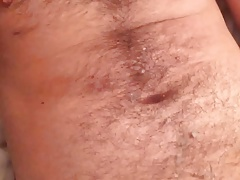 Young hairy guy jerk off and cum