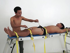 Jesse On The Tickling Rack