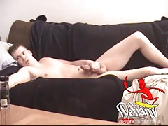 Young Riki Strips Naked and Jerks Off For Us