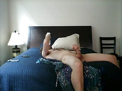 fleshlight face fuck jerk pound and cum on the bed