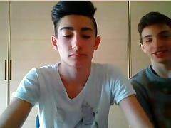 2 Cute Italian Str8 Boys Show Their Hot Asses On Webcam