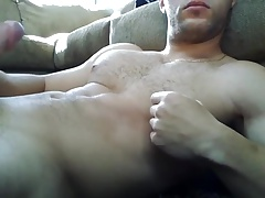 Guys stroking their hard cocks and shooting hot cum loads 7