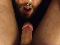 Giving myself head and self facial selfsuck autofellatio