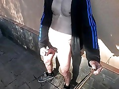 Spanish Twink Jerks Off Outdoor With A Cockring