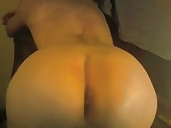 Femboy's tight smooth ass on webcam
