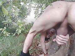 Twink loves showing off outdoors
