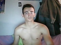 French Gorgeous Boy Jerking His Nice Cock On Cam