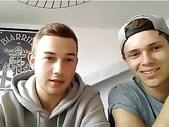 French Cute Friends Show Their Smooth Round Butts On Cam