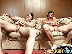 Lusty homos Dolan and Dean Inja stroke their cocks