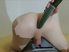 Young ass stretched: Two hard orgasms
