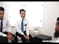 Two Young Mormon Guys Threesome With Bearded Priest