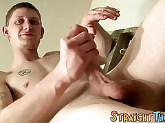Young tattooed jock solo masturbates and cums for his fans
