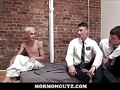 Hot Young Mormon Twink Threesome After One Gets Jealous