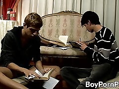 Doggystyle anal drilling with cute twinks Gael and Mark