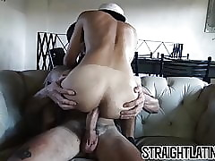 Young Latino amateur barebacked for the first time