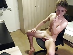 very hot cute and hung boy gives a hot show on cam
