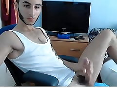 hot guy jerking his meat