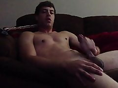 STROKING BIG DICK MOANING AND HUGE CUMSHOT