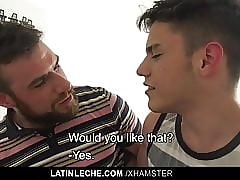 LatinLeche- Hot Threesome For A Hung Hairy Stud And Twunks