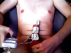 20 yo young gay electro estim cock with Cumshot at the end