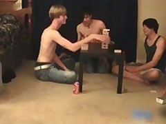 Three super cute twinks having a games gay boys