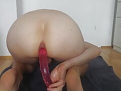 Long Double Dong Dildo Deep Insertion 2