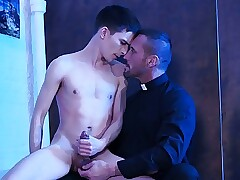 Young Twink Catholic Altar Boy Fucked By Muscle Hunk Priest