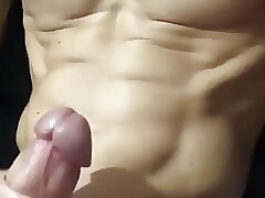 hot muscular guy jerking off
