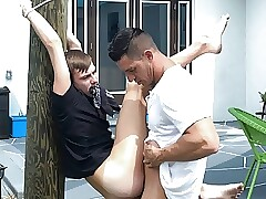Tied Up To Tree Twink Nephew Fucked By Hot Uncle Outdoors