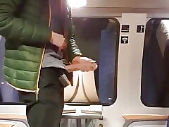 Wanking and Cumming on a Metro Train