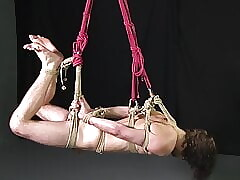 Hot Muscle Jocks in Rope Bondage Edged & Fucked Gay BDSM