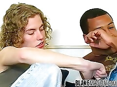 Black British jock ass fucked by cute curly haired amateur