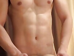 gorgeous stud fucking a twink doggy on bed (59'')