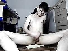 Twink fucking himself with various dildos