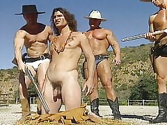 Naked Western- Cowboys Capture, Strip & Cage a Wild Indian