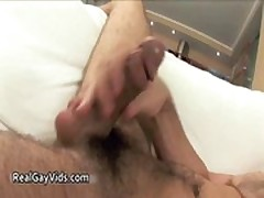 Duke jerking his nice firm gay cock gays