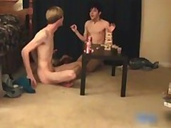Three super cute twinks having a games gay porno