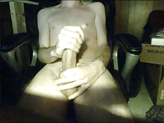Twink milks his big cock on webcam Part 2