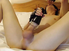 Hot Emo Femboy Plays With Fleshlight