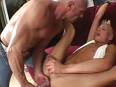 Daddy uses boy for his pleasure