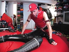 raw boyfuck bare Leathermaster breeds him hard