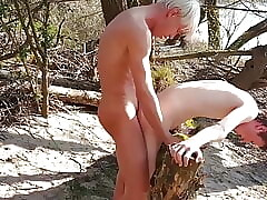 Twinks fucking Outdoor until end