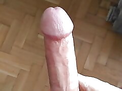 Showing my hot shaved cock