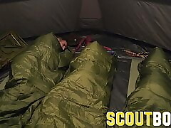 ScoutBoys Austin Young fucked outside in tent by older daddy