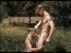 sexy blonde twink meets a big dicked macho outdoor