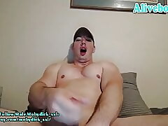 awesome load!!sexy hunk with big cock jerks off